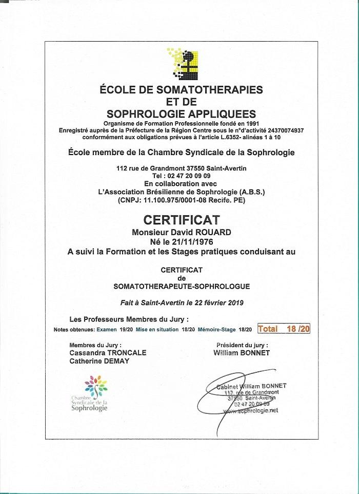 Diplôme Somatothérapies et Sophologie